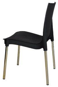 Черный пластиковый стул Рич для кафе и столовой