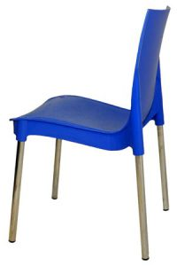 Синий пластиковый стул Рич для кафе