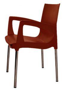 Пластиковый стул Рикко коричневый