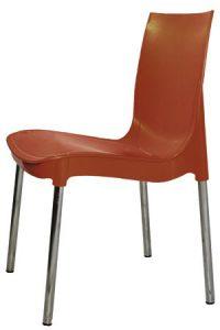 Коричневый пластиковый стул Рич для кафе и столовой