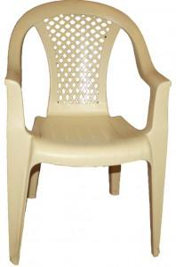 Бежевое пластиковое кресло для кафе птом