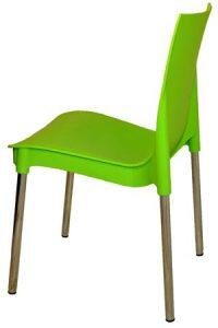 Зеленый пластиковый стул Рич для кафе
