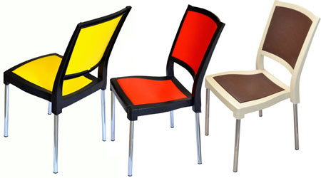 Пластиковые стулья. Пластмассовые стулья и кресла для кафе.