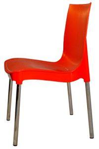 Красный пластиковый стул Рич для кафе