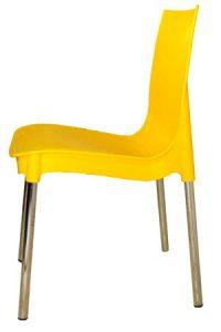 Желтый пластиковый стул Рич для кафе