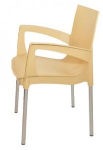 Пластиковый стул Рикко бежевый