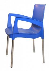 Синий пластиковый стул (кресло) RICCO для кафе
