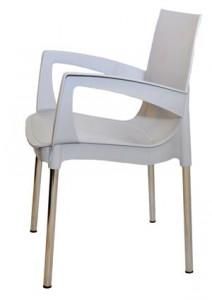 Серое пластиковое кресло RICCO для кафе