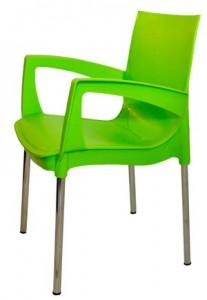Салатовый пластиковый стул (кресло) RICCO для кафе