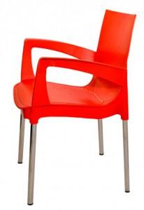 Красный пластиковый стул (кресло) RICCO для кафе