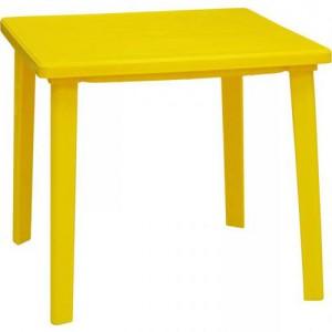 Стол пластиковый желтый
