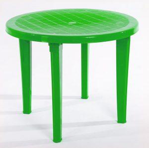 круглый зеленый стол