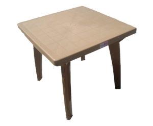 Стол из пластика Луна коричневый