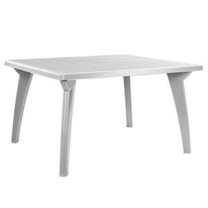 Белый прямоуголный стол