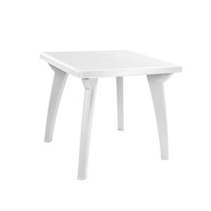 Стол квадратный пластиковый белый