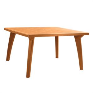 Коричневый пластиковый стол
